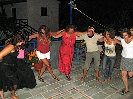 Dances on the terrace